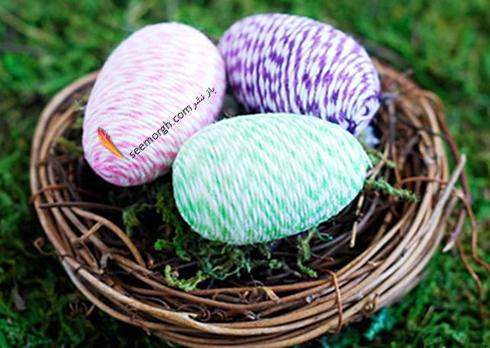 تزیین تخم مرغ هفت سین با کاغذ و کنف - عکس شماره 2