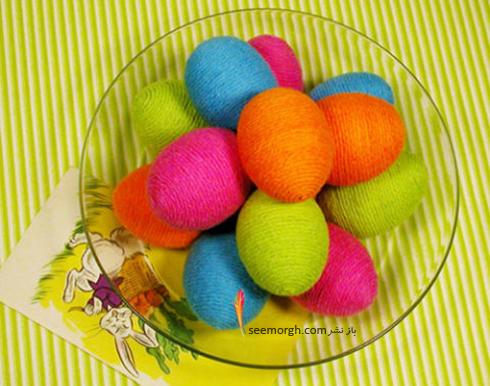 تزیین تخم مرغ هفت سین با کاغذ و کنف - عکس شماره 4