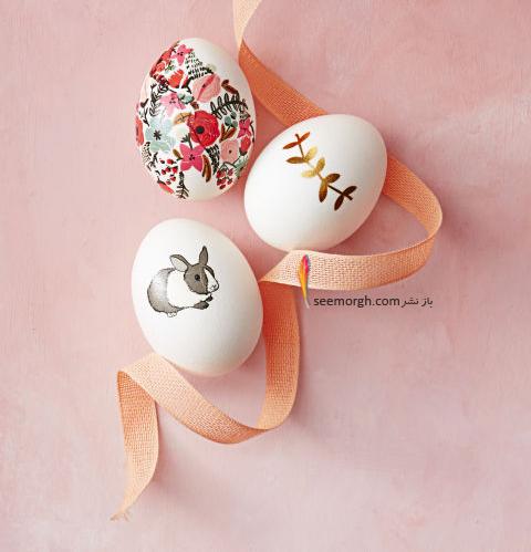 تزیین تخم مرغ هفت سین با استیکر و برچسب - مدل شماره 1
