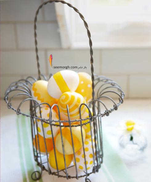 تزیین تخم مرغ هفت سین با استیکر و برچسب - مدل شماره 8