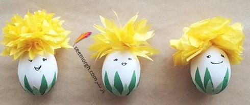 تزیین تخم مرغ هفت سین با استیکر و برچسب - مدل شماره 7