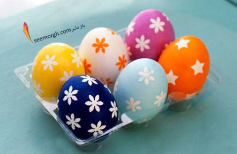 تزیین تخم مرغ هفت سین با استیکر و برچسب - مدل شماره 5