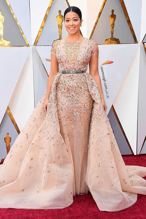 بدترین مدل لباس در مراسم اسکار 2018 Oscar - جینا رودریگز Gina Rodriguez