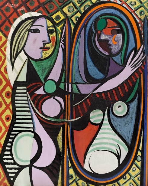آینه اثر پابلو پیکاسو که تصویری از معشوقه اش والترز است