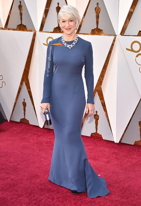 بدترین مدل لباس در مراسم اسکار 2018 Oscar - هلن میرن Helen Mirren