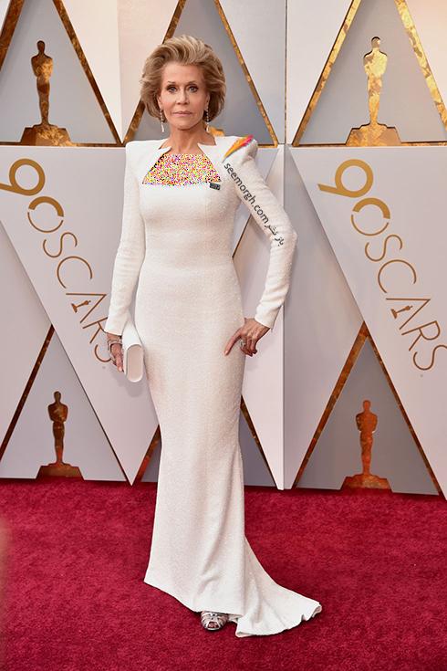 بدترین مدل لباس در مراسم اسکار 2018 Oscar - جین فوندا Jane Fonda