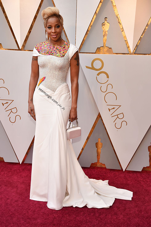 بدترین مدل لباس در مراسم اسکار 2018 Oscar - ماری جی بلیج Mary J. Blige
