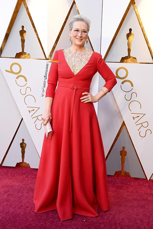 بهترین مدل لباس در مراسم اسکار Oscar 2018 - مریل استریپ Meryl Streep
