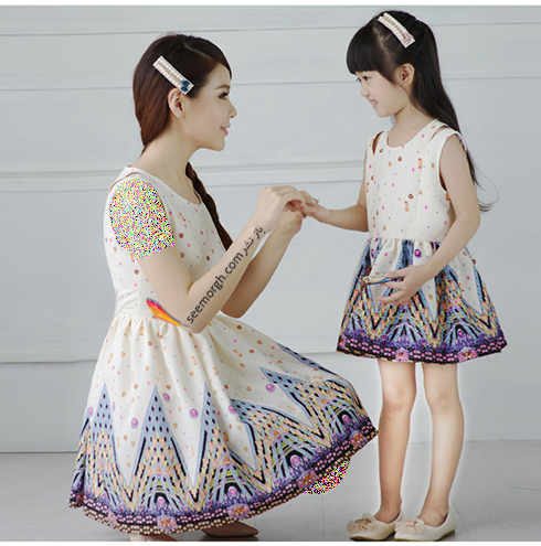 ست کردن لباس مادر و دختر به مناسبت روز مادر - ست لباس شماره 1