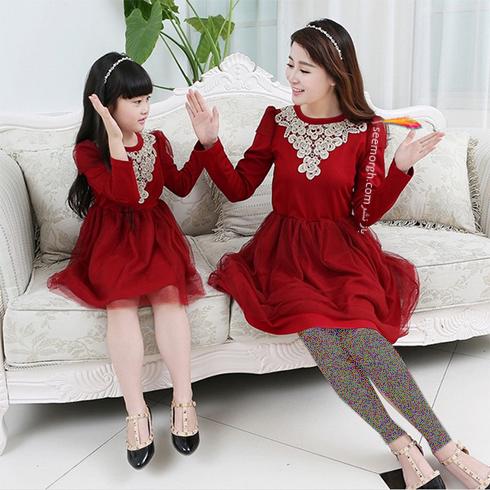 ست کردن لباس مادر و دختر به مناسبت روز مادر - ست لباس شماره 3