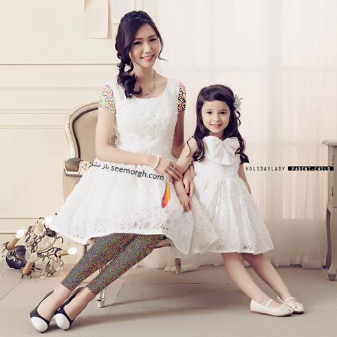 ست کردن لباس مادر و دختر به مناسبت روز مادر - ست لباس شماره 4