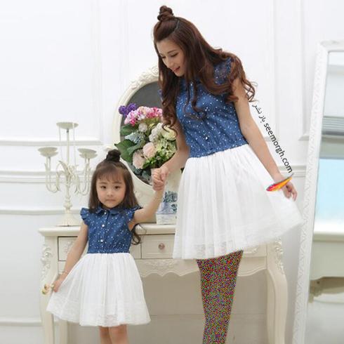 ست کردن لباس مادر و دختر به مناسبت روز مادر - ست لباس شماره 5