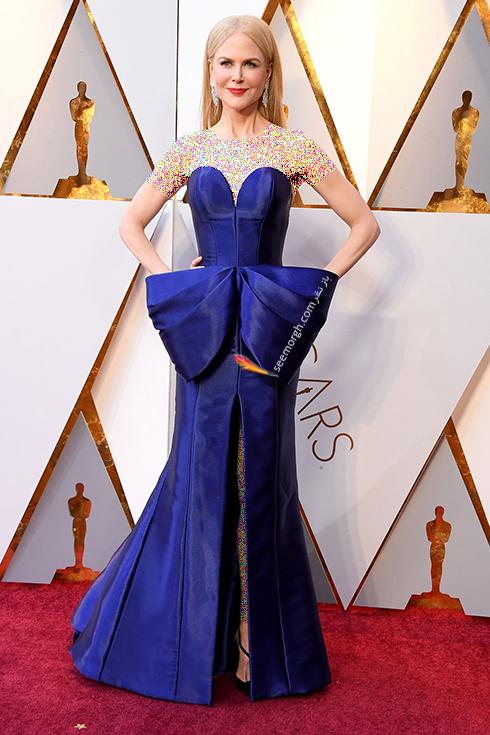 بهترین مدل لباس در مراسم اسکار Oscar 2018 - نیکول کیدمن Nicole Kidman