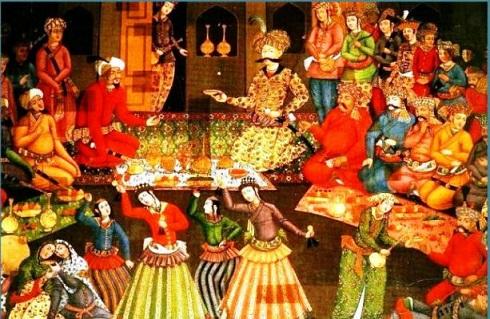 نقاشی جشن نوروزی دوره شاه عباس