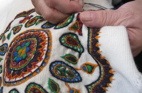 پته دوزی,هنر سنتی,زنان,کرمان