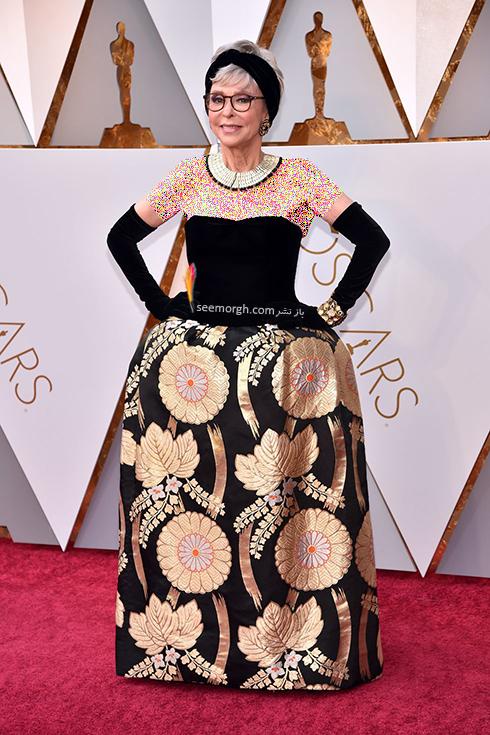 بدترین مدل لباس در مراسم اسکار 2018 Oscar - ریتا مورنو Rita Moreno
