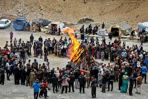 برگزاری آیین های سنتی عید نوروز در روستای ساتیاری