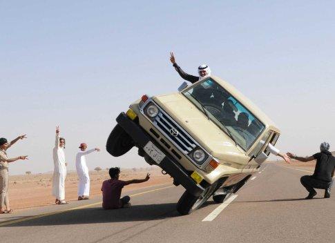 تفریح عجیب جوانان عربستان