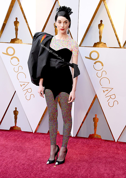 بدترین مدل لباس در مراسم اسکار 2018 Oscar - آنه ارین Anne Erin معروف به St.Vincent
