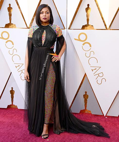 بهترین مدل لباس در مراسم اسکار Oscar 2018 - تاراج پی هنسون Taraji P. Henson