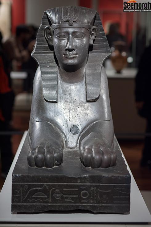 مجسمه ابولهول (فرعون هاکور) در موزه ملی ایران