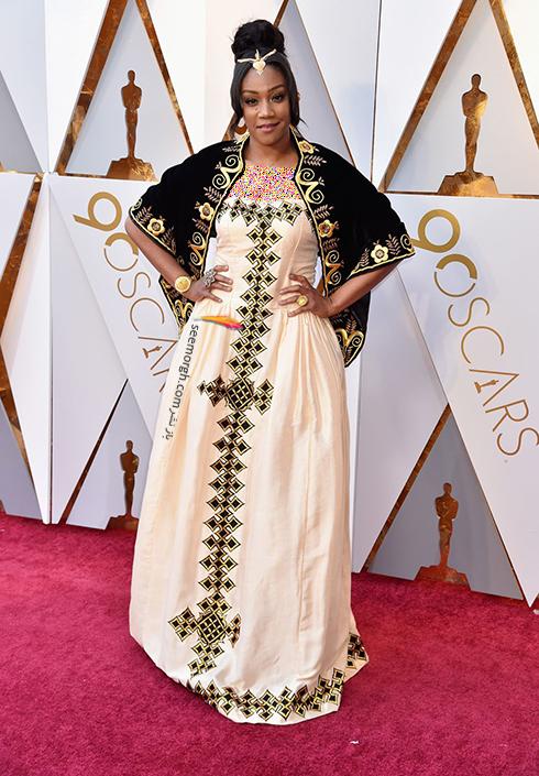 بدترین مدل لباس در مراسم اسکار 2018 Oscar - تیفانی هدیش Tiffany Haddish