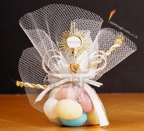 تزیین تخم مرغ هفت سین با تور و بافتنی - مدل شماره 1