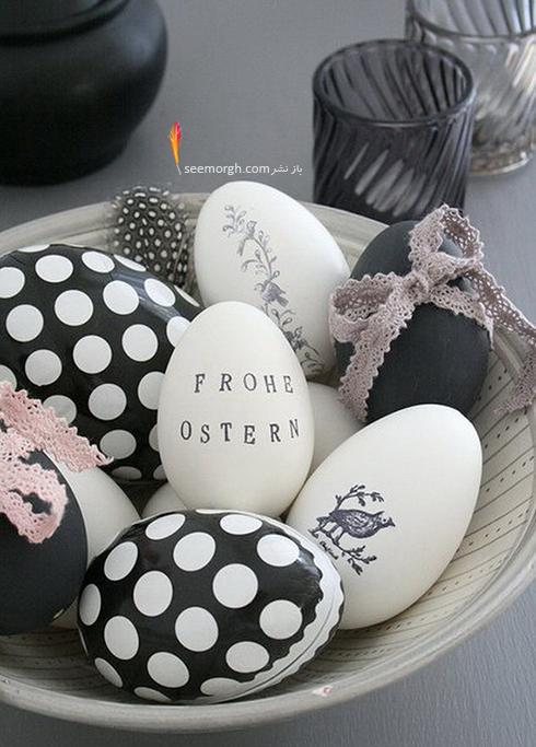تزیین تخم مرغ هفت سین با تور و بافتنی - مدل شماره 5