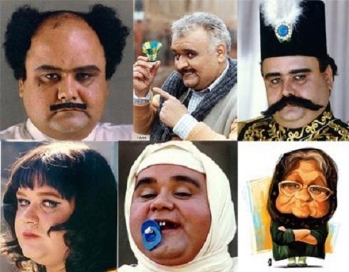 گریم های متفاوت اکبر عبدی توسط عبدالله اسکندری