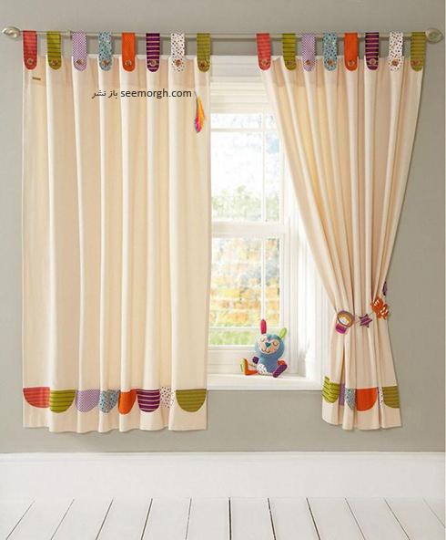 تزیین اتاق کودک با پرده های رنگی و فانتزی - مدل شماره 4