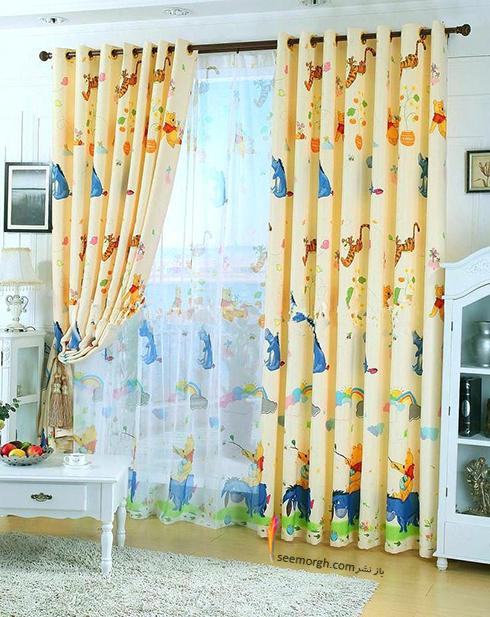 تزیین اتاق کودک با پرده های رنگی و فانتزی - مدل شماره 6