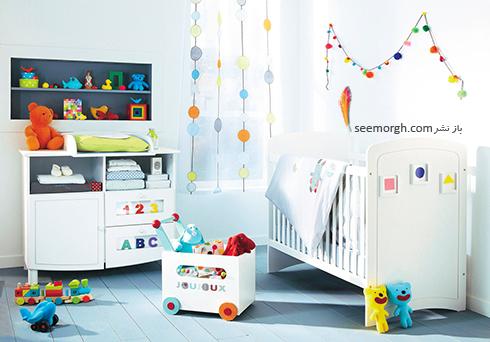 تزیین اتاق کودک با پرده های رنگی و فانتزی - مدل شماره 7