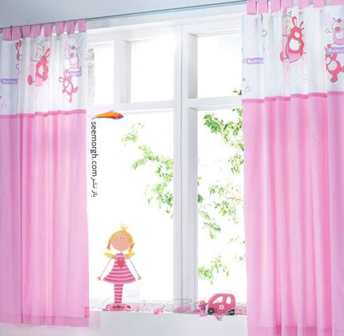 تزیین اتاق کودک با پرده های رنگی و فانتزی - مدل شماره 9