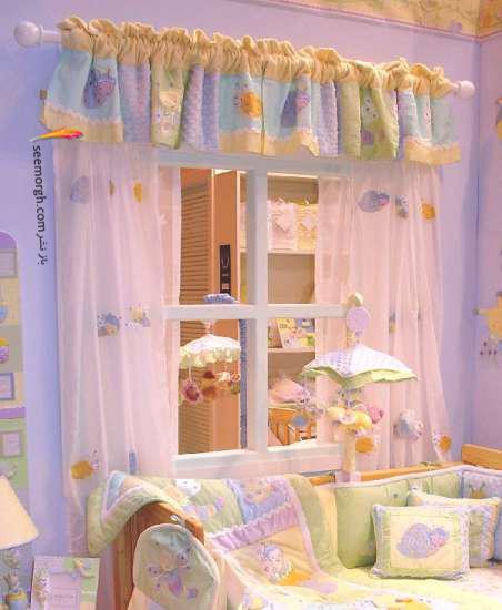 تزیین اتاق کودک با پرده های رنگی و فانتزی - مدل شماره 10