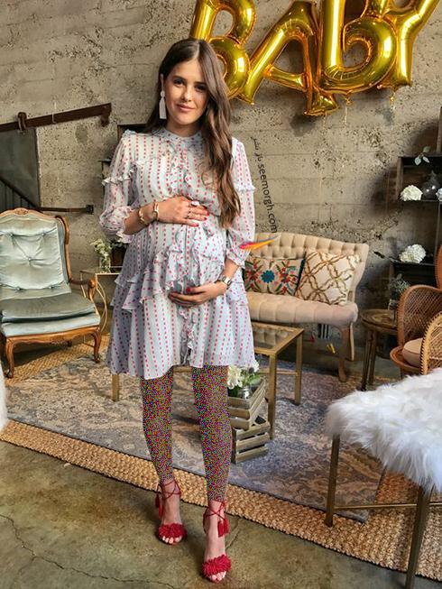 لباس بارداري چين دار