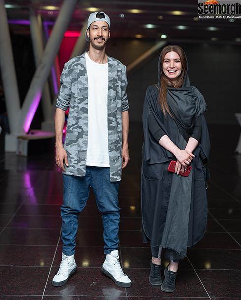 بهرام افشاری و متین ستوده در اکران خصوصی خجالت نکش