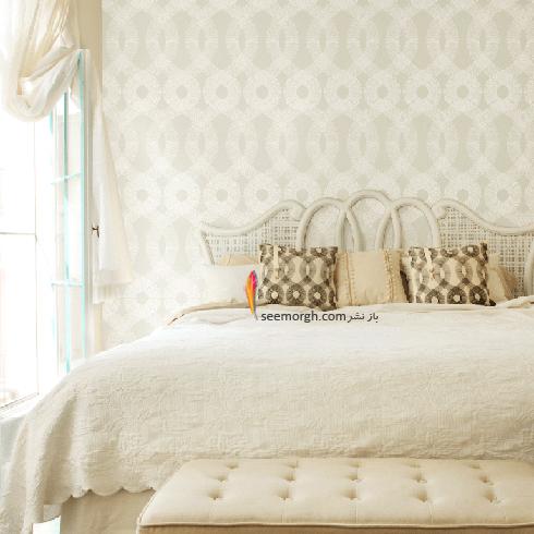 _ کاغذ دیواری اتاق خواب با طرح های ساده