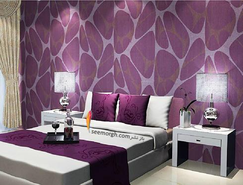 کاغذ دیواری اتاق خواب با طرح سنگ