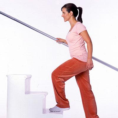 بالا رفتن از پله را تکرار کنید