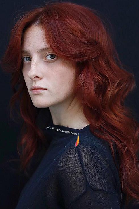 رنگ مو قرمز پررنگ