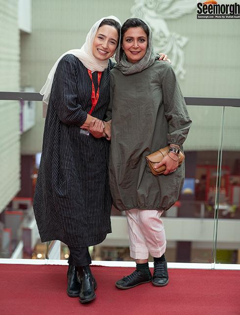 مدل مانتو بازیگران زن در جشنواره جهانی فیلم فجر - الهام کردا و نگار جواهریان
