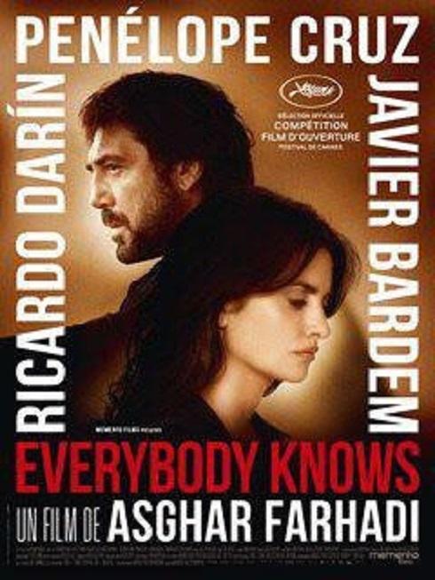 پوستر فرانسوی فیلم همه میدانند اصغر فرهادی