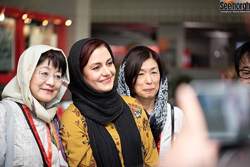 مریلا زارعی و مهمانان چینی در جشنواره جهانی فجر