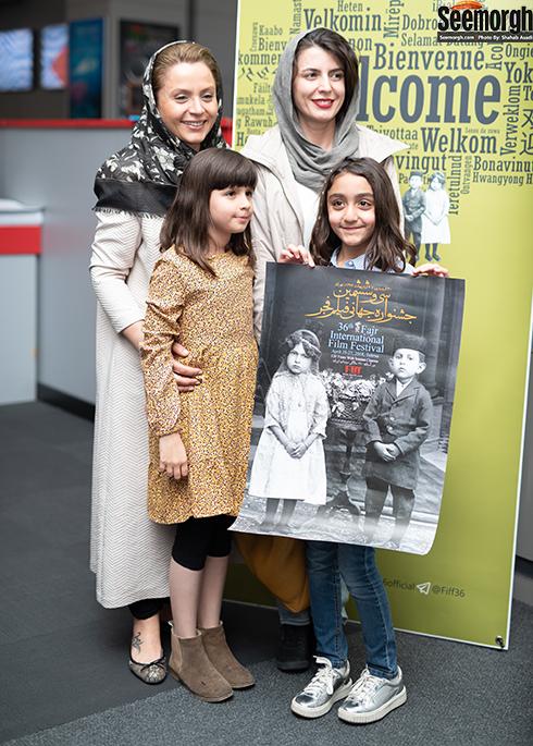 لیلا حاتمی و دخترش عسل مصفا در جشنواره جهانی فجر