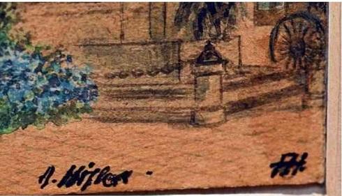 امضای هیتلر پایین تابلوی نقاشی