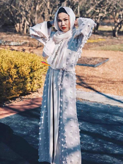 مدل مانتو جدید 97 در دنیای فشن اسلامی برای بهار - مدل شماره 10