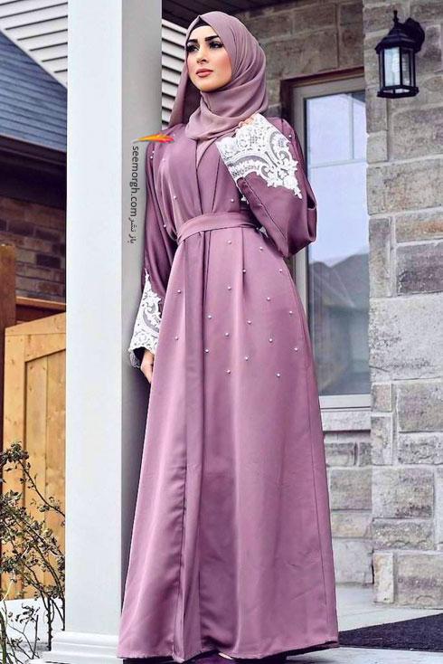 مدل مانتو جدید 97 در دنیای فشن اسلامی برای بهار - مدل شماره 6