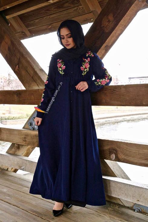 مدل مانتو جدید 97 در دنیای فشن اسلامی برای بهار - مدل شماره 4