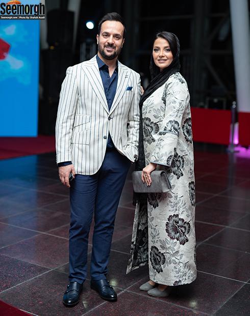 حضور احمد مهرانفر و همسرش در اکران خصوصی خجالت نکش