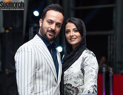 احمد مهرانفر و همسرش در اکران خصوصی خجالت نکش